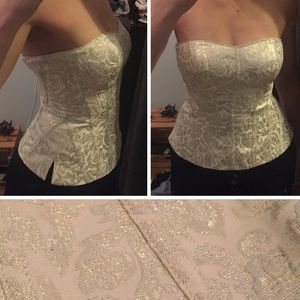 White House Black Market Bustier Bodice Top